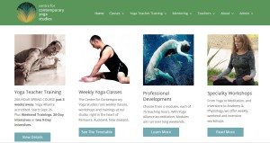 Yoga Teacher Trainig website