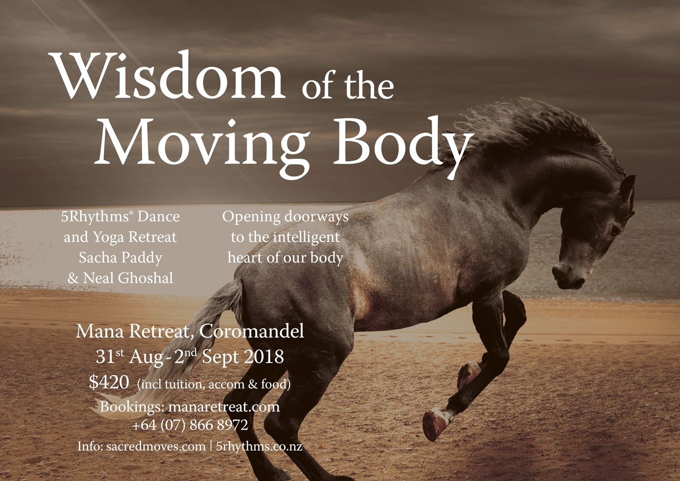 Wisdom of the Moving Body - a weekend retreat with Sacha Paddy and Neal Ghoshal - 5Rhythms Dance and Yoga