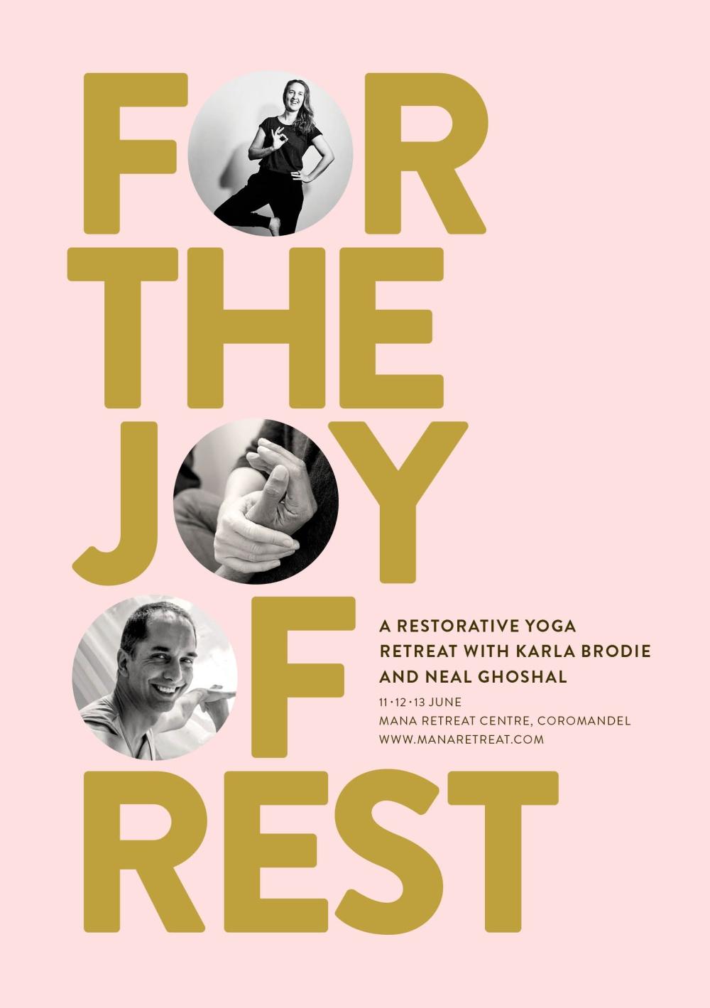 For the Joy of Rest - Restorative Yoga Retreat at Mana Retreat Centre, 11-13th June 2021